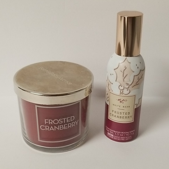 Frosted Cranberry Room Spray & Candle